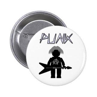 Punk Guitarist Minifig Button