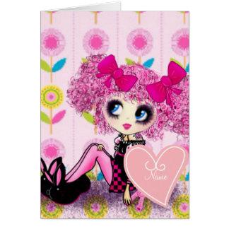 Punk Harajuku girl so kawaii cute and girly Greeting Card