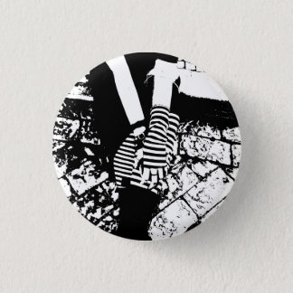 punk hearted 3 cm round badge