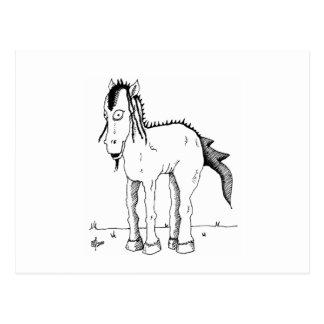 Punk horse creature postcard