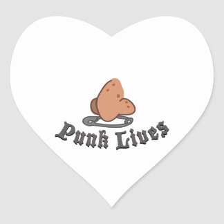 Punk Lives Heart Sticker