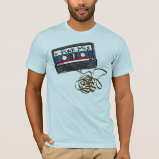Punk Mix cassette tape light blue mens fitted tee