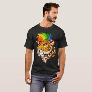 Punk/Mohawk Tiger Men's Basic Dark T-Shirt