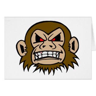 Punk Monkey Greeting Card