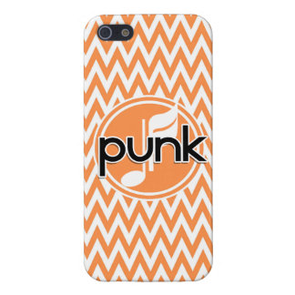 Punk Orange and White Chevron iPhone 5 Covers