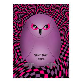 Punk owl postcard