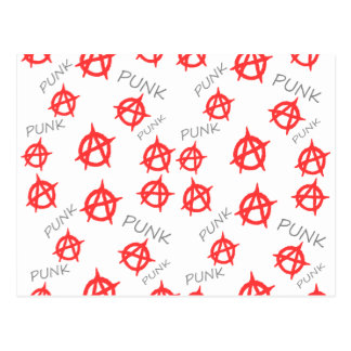 Punk pattern postcard