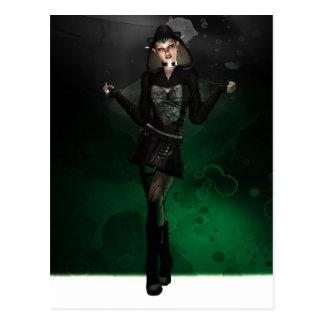 Punk Pixie - Green Postcard