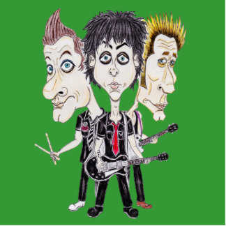 Punk Rock Band Funny Caricature Drawing Sculpture Standing Photo Sculpture