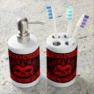 punk rock forever bath accessory sets