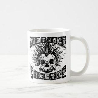 punk rock forever coffee mug