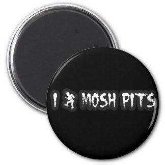 Punk Rock Mosh pit guys girls punk music slam pit 6 Cm Round Magnet