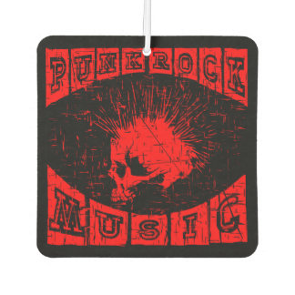 punk rock music car air freshener