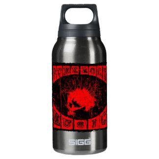 punk rock music insulated water bottle