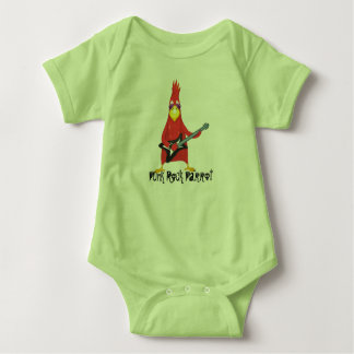 Punk Rock Parrot Baby Bodysuit