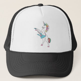punk-rock-unicorn-playing-guitar-shirt trucker hat
