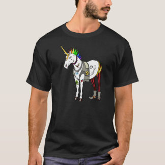 Punk Rock Unicorn T Shirt