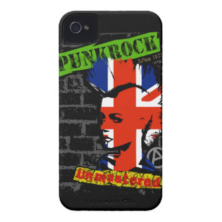 Punk rock - union jack Mohawk iPhone 4 Cases