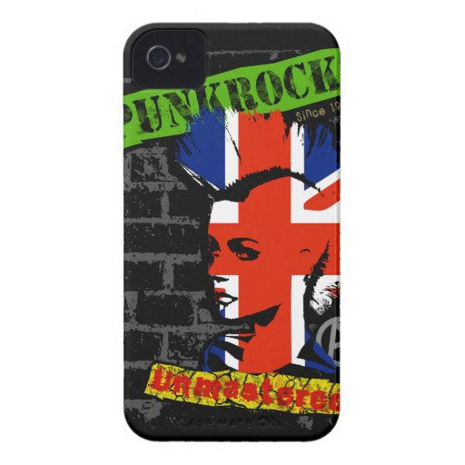 Punk rock - union jack Mohawk iPhone 4 Covers