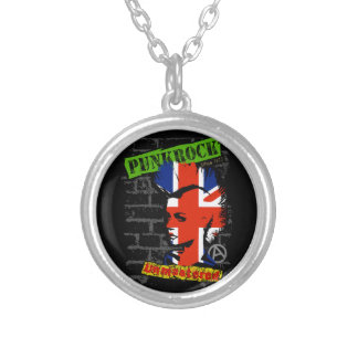 Punk rock - union jack Mohawk Personalized Necklace