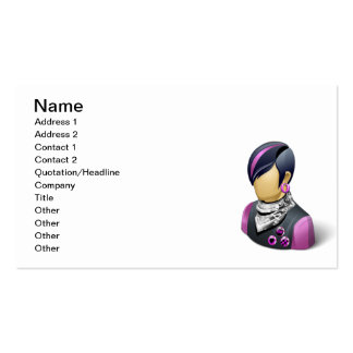 PUNK ROCKER DUDE GUY MAN METAL PARTY ATTITUDE PACK OF STANDARD BUSINESS CARDS