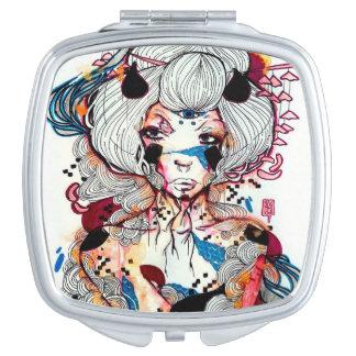 Punk Rocker edgy Asian Japanese Geisha Compact Mirrors