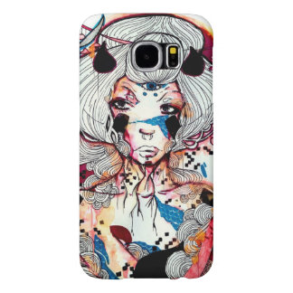 Punk rocker edgy geisha pop surreal art samsung galaxy s6 cases