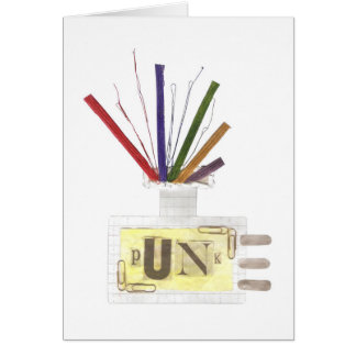 Punk Room Diffuser No Background Greeting Card