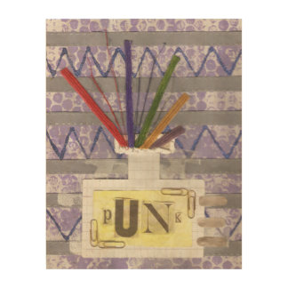 Punk Room Diffuser Wooden Poster