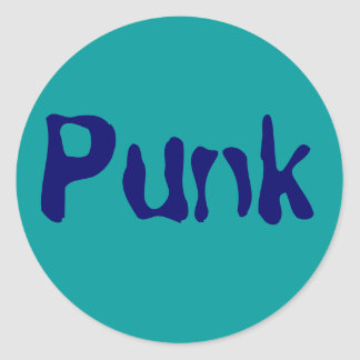 Punk Round Sticker