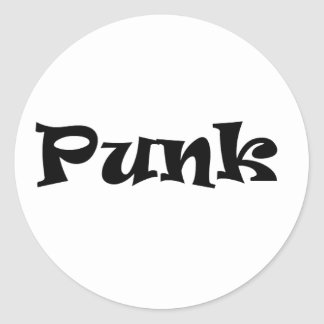 punk round sticker