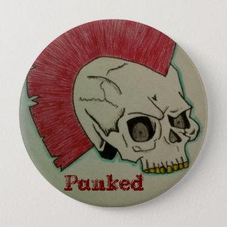 Punk Skull 10 Cm Round Badge