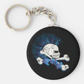 Punk Skull Key Ring