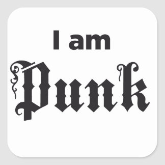 Punk Square Sticker
