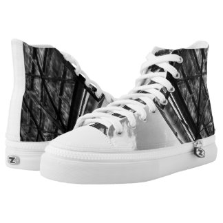 Punk Style High Top Shoes Printed Shoes