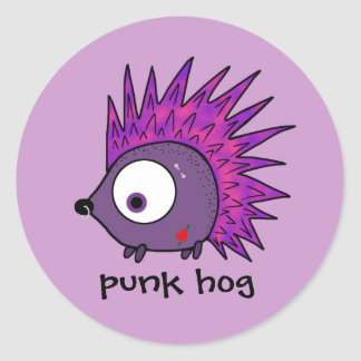 Punk the Hedgehog Round Sticker