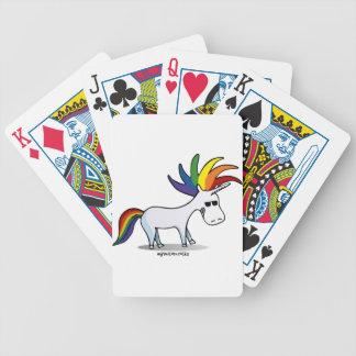 Punk Unicorn - punk unicorn Bicycle Playing Cards