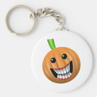 punkin basic round button key ring