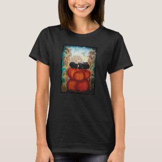 Punkin' Pile - Halloween, Pumpkins, Witch in Moon T-Shirt