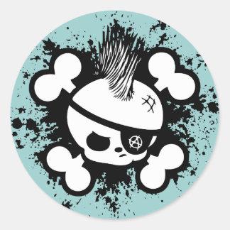 Punkin Pirate Round Sticker