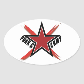 Punk's Army Oval Sticker