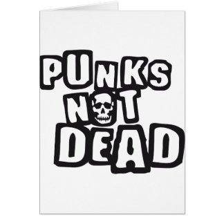 punks emergency DEAD Greeting Card