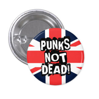 Punks Not Dead 3 Cm Round Badge