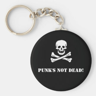 Punk's Not Dead Button Basic Round Button Key Ring