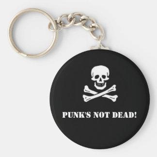 Punk's Not Dead Button Key Chains