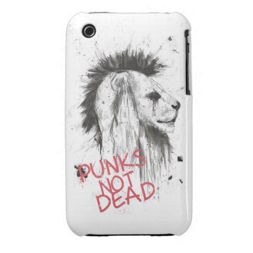 punks not dead iPhone 3 Case-Mate cases