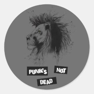 punks not dead classic round sticker
