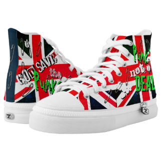 Punks not Dead God Save Punks Grunge Union Jack High Tops