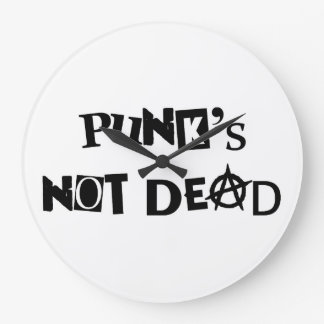 punk's not dead punk music famous message anarchy large clock