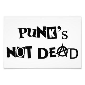 punk's not dead punk music famous message anarchy photo print